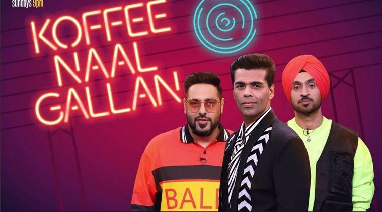 Koffee With Karan season 6 diljit dosanjh and badshah