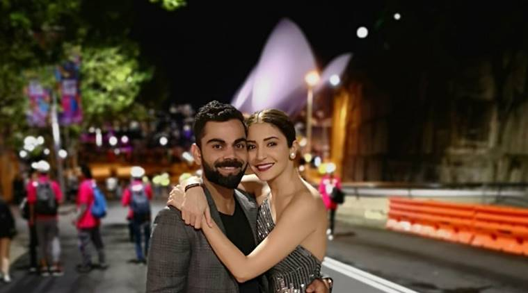 Virat Kohli and Anushka Sharma in Sydney to celebrate the new year.
