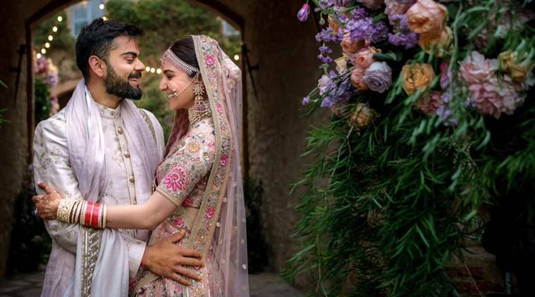 Virat Kohli posted this image on his Twitter account for his first wedding anniversary