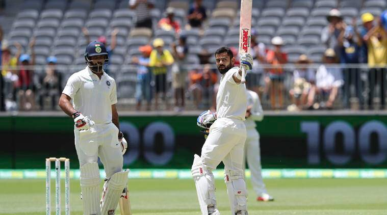 Virat Kohli hit his 7th Test hundred against Australia (photo - getty)