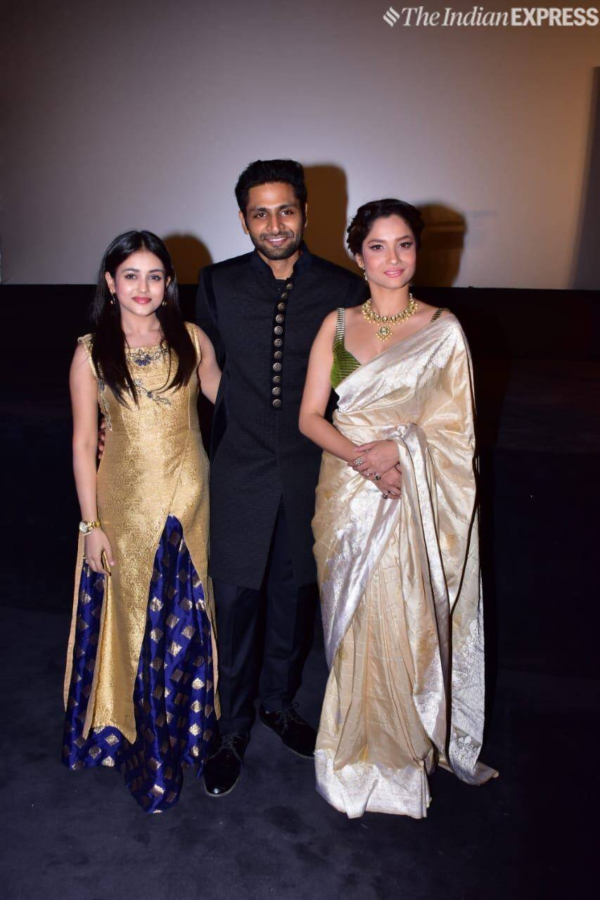 Ankita Lokhande with Vaibhav Tatwawaadi and Mishti.