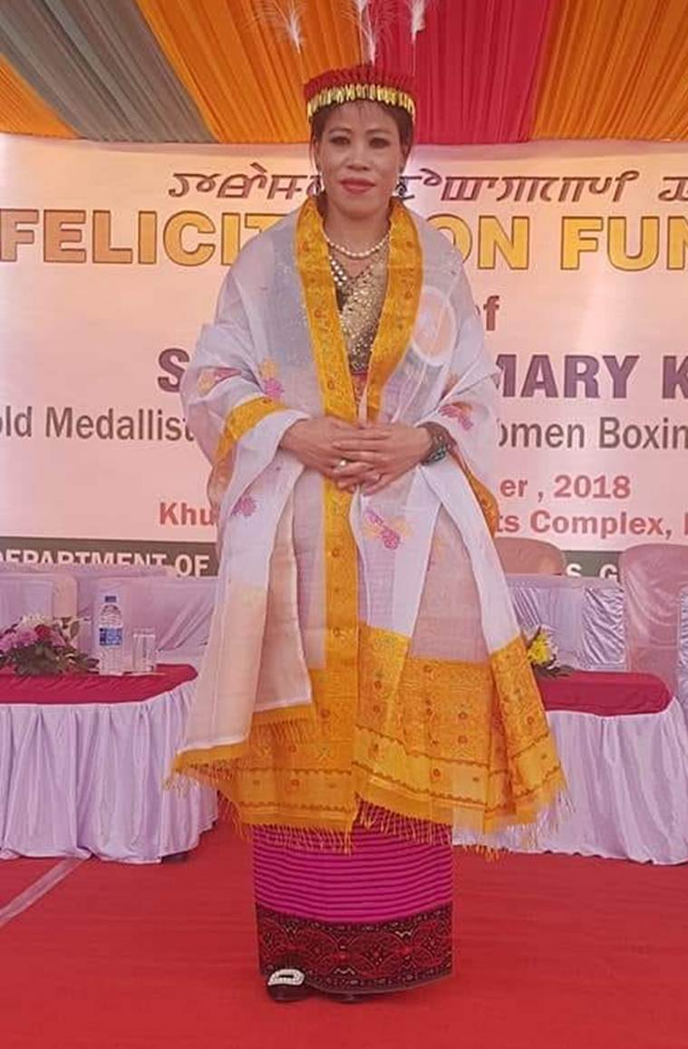 Manipur government confers boxer MC Mary Kom with 'Meethoileima' title