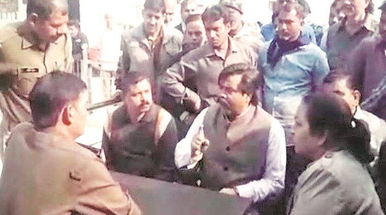 Meerut: Video Of Bjp Leader 'threatening' Cops Goes Viral