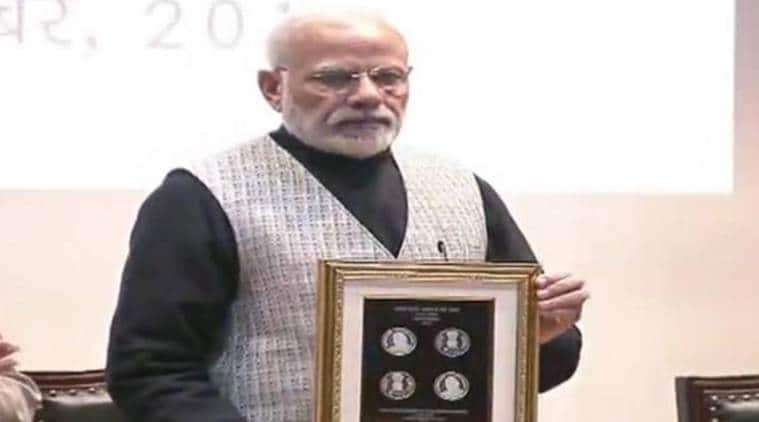 narendra modi, pm modi, commemorative coin, commemorative coin vajpayee, atal bihari vajpayee, amit shah, aiims
