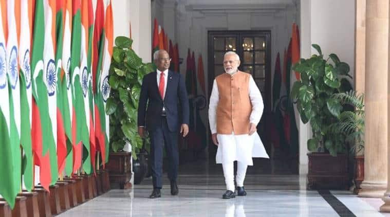 Narendra Modi meets Ibrahim Mohamed Solih