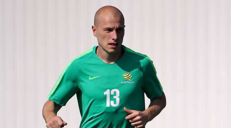 Australia's Aaron Mooy during training