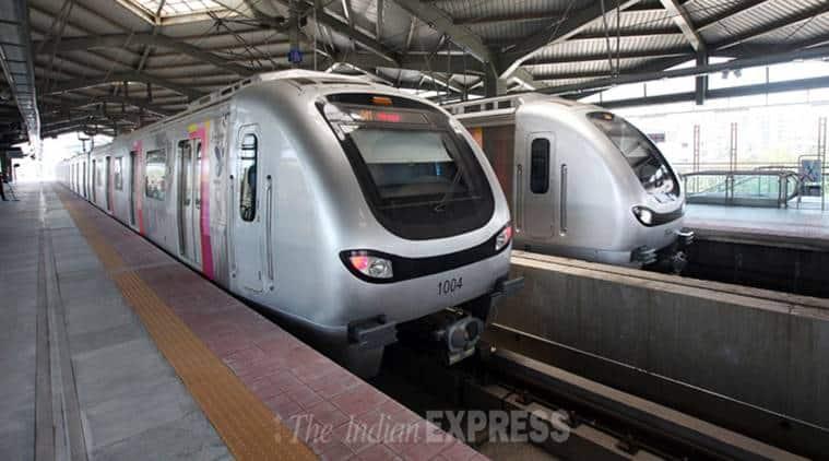 mumbai metro, mumbai metro 4 corridor, mumbai metropolitan region development authority, trees, cutting of trees, mumbai news, indian express news