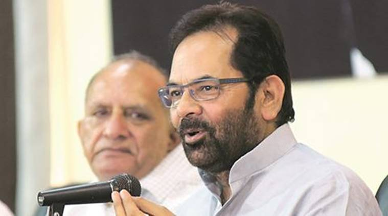 Oppn Grand Alliance Has Reached 'expiry Date' Even Before Its Manufacturing: Mukhtar Abbas Naqvi