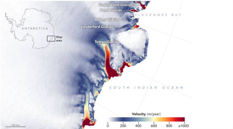 Fears over rising sea levels as glaciers melt in East Antarctica