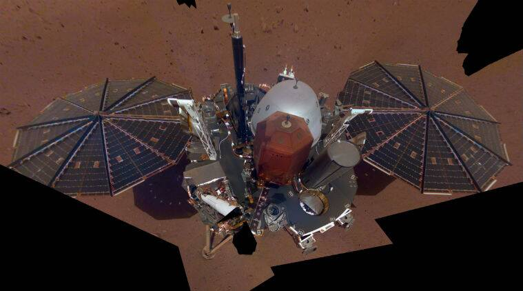 NASA's InSight lander takes selfie from above with robotic arm