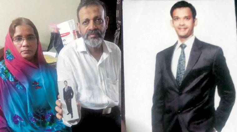 Nehal Hamid Ansari was arrested in 2012; his parents in Mumbai.