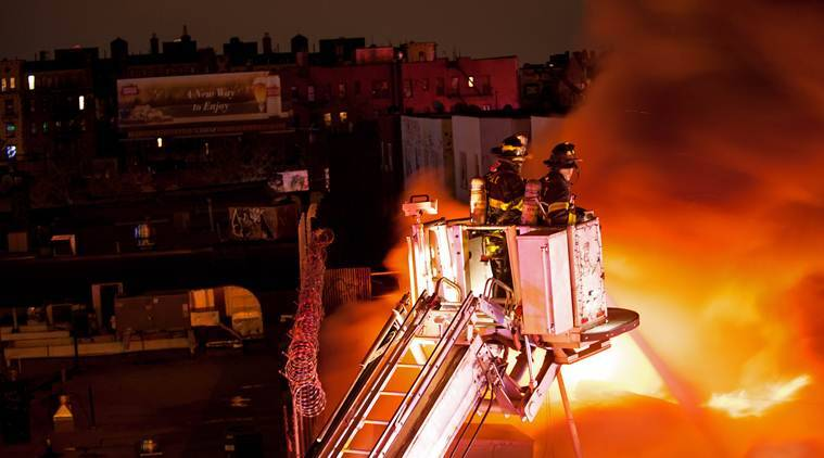 Watch: New York firefighters survive dramatic backdraft