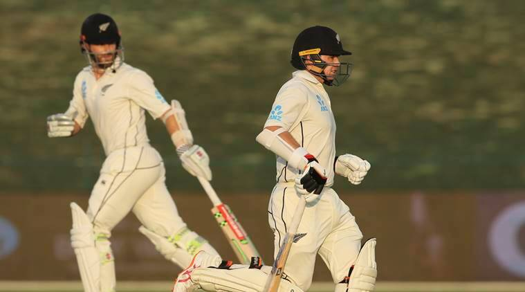 New Zealand's batsman Tom Latham right and Kane Williamson run in their test match against Pakistan in Abu Dhabi United Arab Emirates