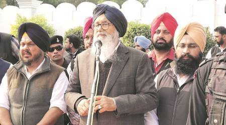 Parkash Singh Badal, Shiromani Akali Dal , CAA, Parkash Singh Badal at raja sansi, punjab news, indian express