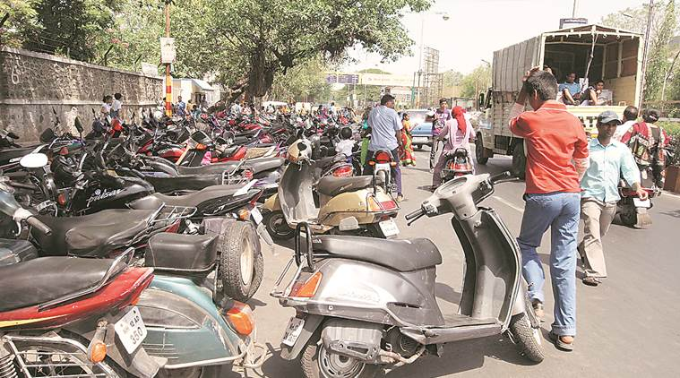 Most roads widened by the civic dept are occupied by parked vehicles. Express