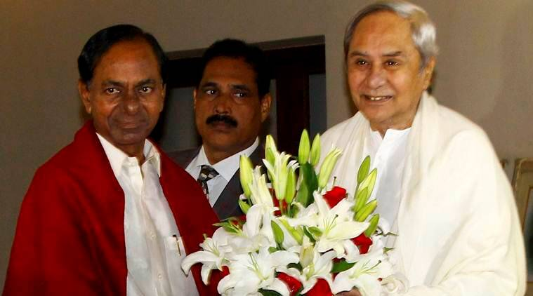 Chief Minister K Chandrasekhar Rao on Sunday met his Odisha counterpart Naveen Patnaik