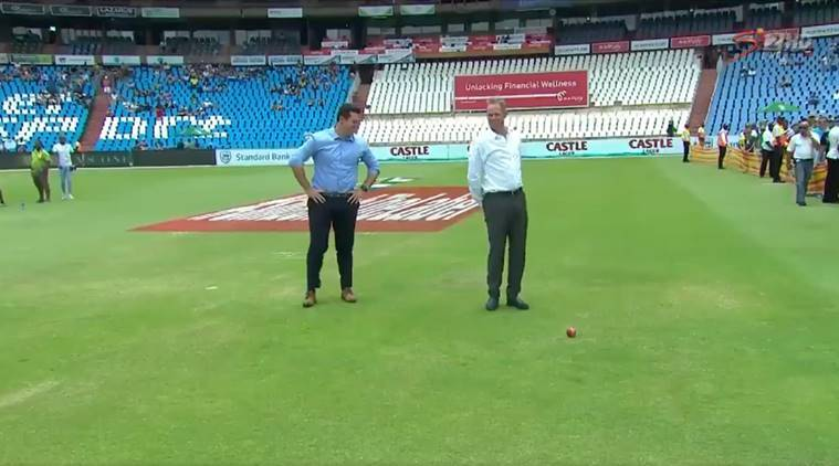 Former South Africa captains Graeme Smith and Shaun Pollock at SuperSport Park in Centurion