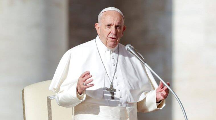 Pope, Pope Francis, Pope Francis UAE, Pope UAE visit, UAE Crown prince, UAE Pope, Pope in UAE, Catholic community in UAE, World news, Indian express, latest news