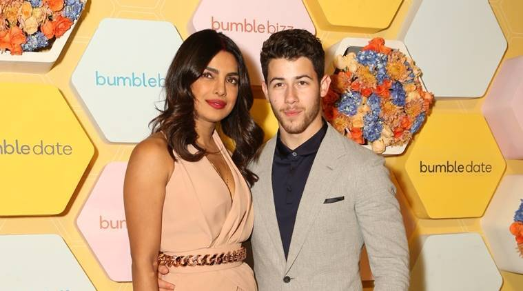 priyanka chopra, nick jonas, bumble dating app, priyanka chopra bumble, priyanka chopra delhi reception, priyanka chopra nick jonas wedding, priyanka jonas nick chopra wedding updates, priyanka chopra nick jonas latest pictures, priyanka chopra pics, priyanka nick wedding, celeb fashion, bollywood fashion, indian express, indian express news
