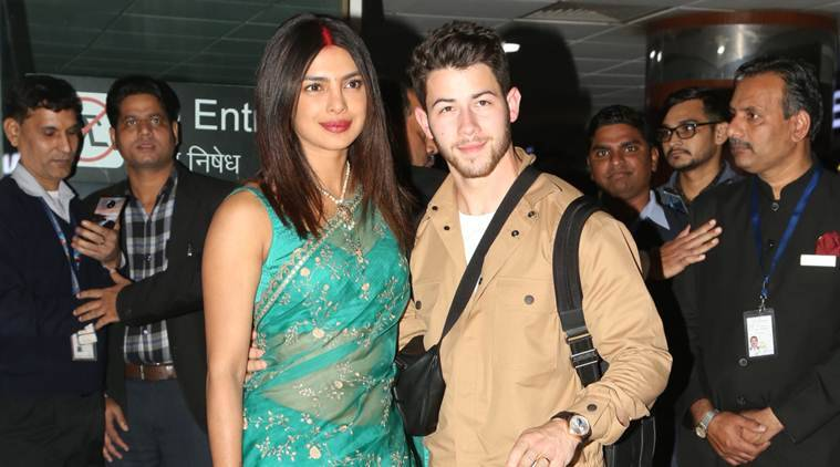 Priyanka Chopra picks a green Sabyasachi sari for her first