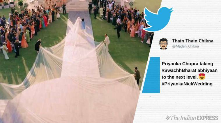 Priyanka Chopra S Epic 75 Ft Long Wedding Veil Is A Meme Now