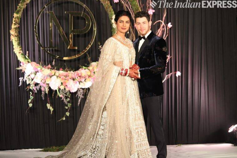 priyanka chopra nick jonas delhi wedding reception photos