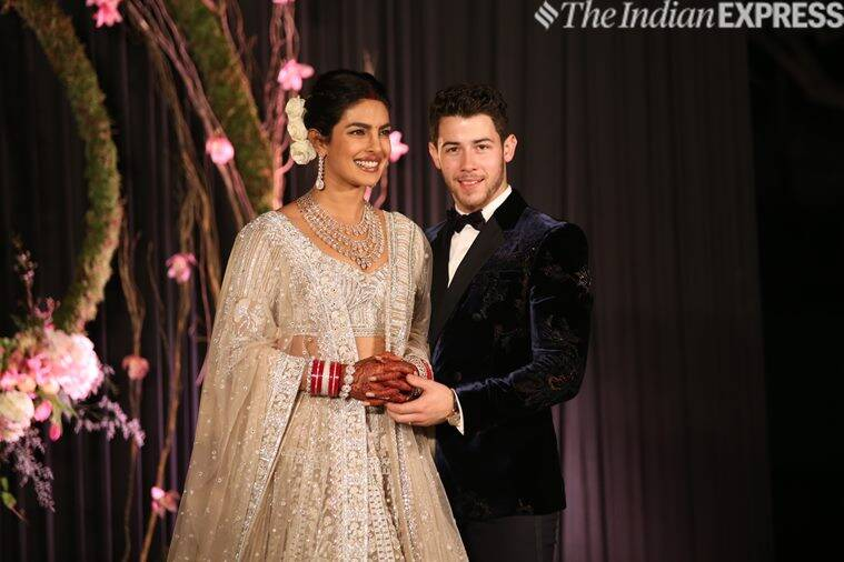 priyanka chopra nick jonas delhi wedding reception