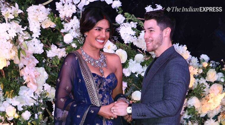 Priyanka Chopra and Nick Jonas mumbai reception