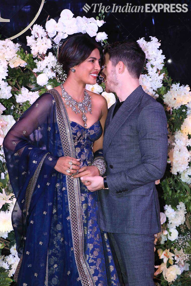 priyanka, nick reception photos