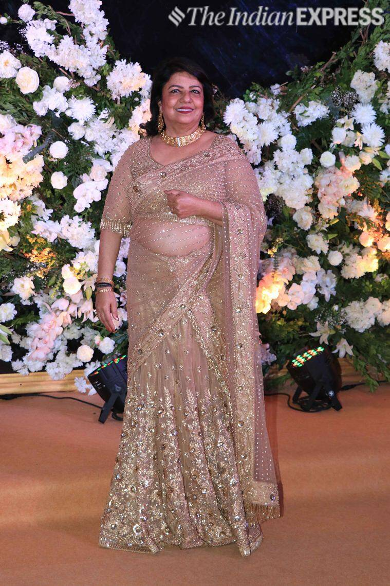 madhu chopra at priyanka chopra reception
