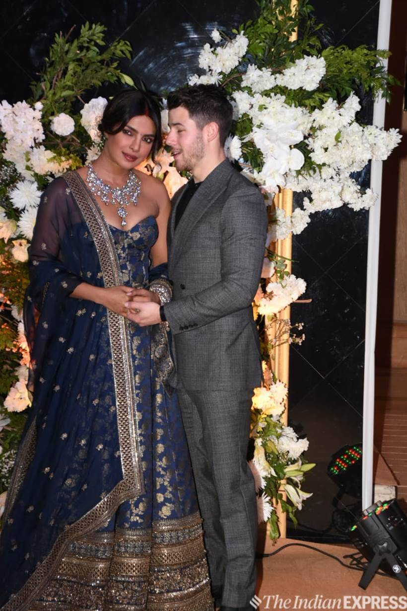 Priyanka Chopra and Nick Jonas media reception photos