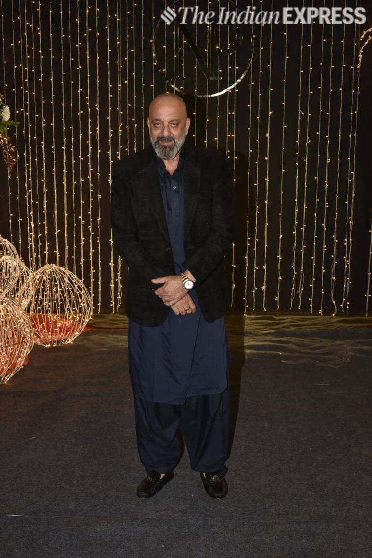 sanjay dutt at priyanka reception