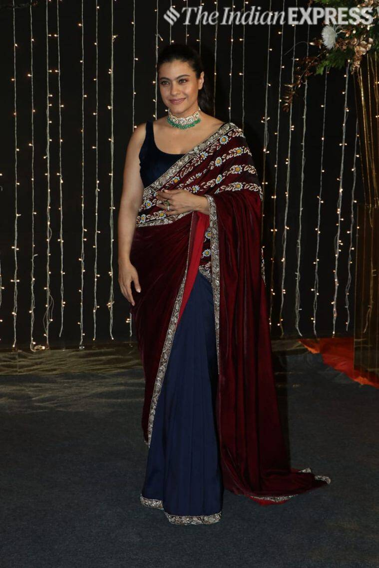 kajol at priyanka chopra reception