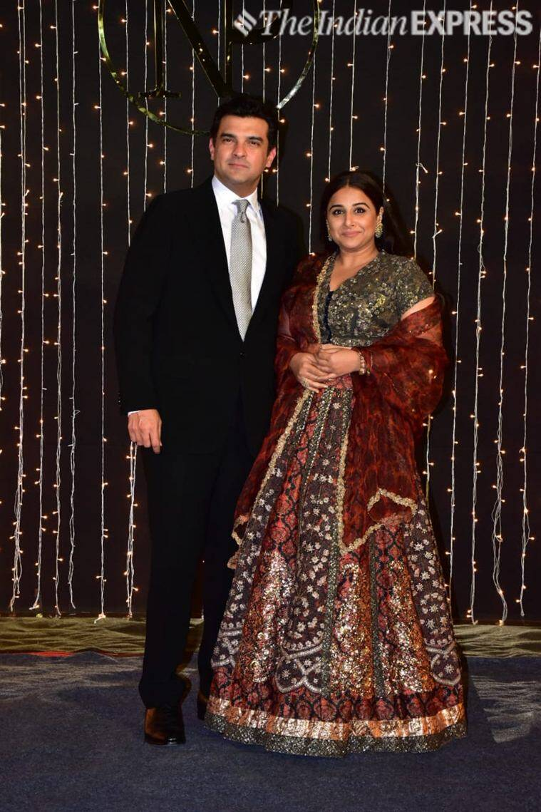 vidya balan at priyanka chopra reception