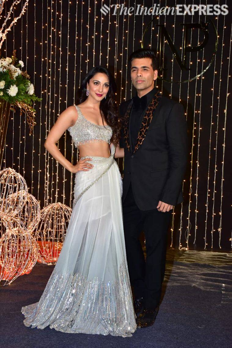 karan johar, kiara advani at priyanka nick reception