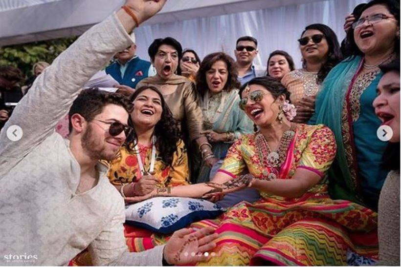 Priyanka Chopra and Nick Jonas mehndi ceremony