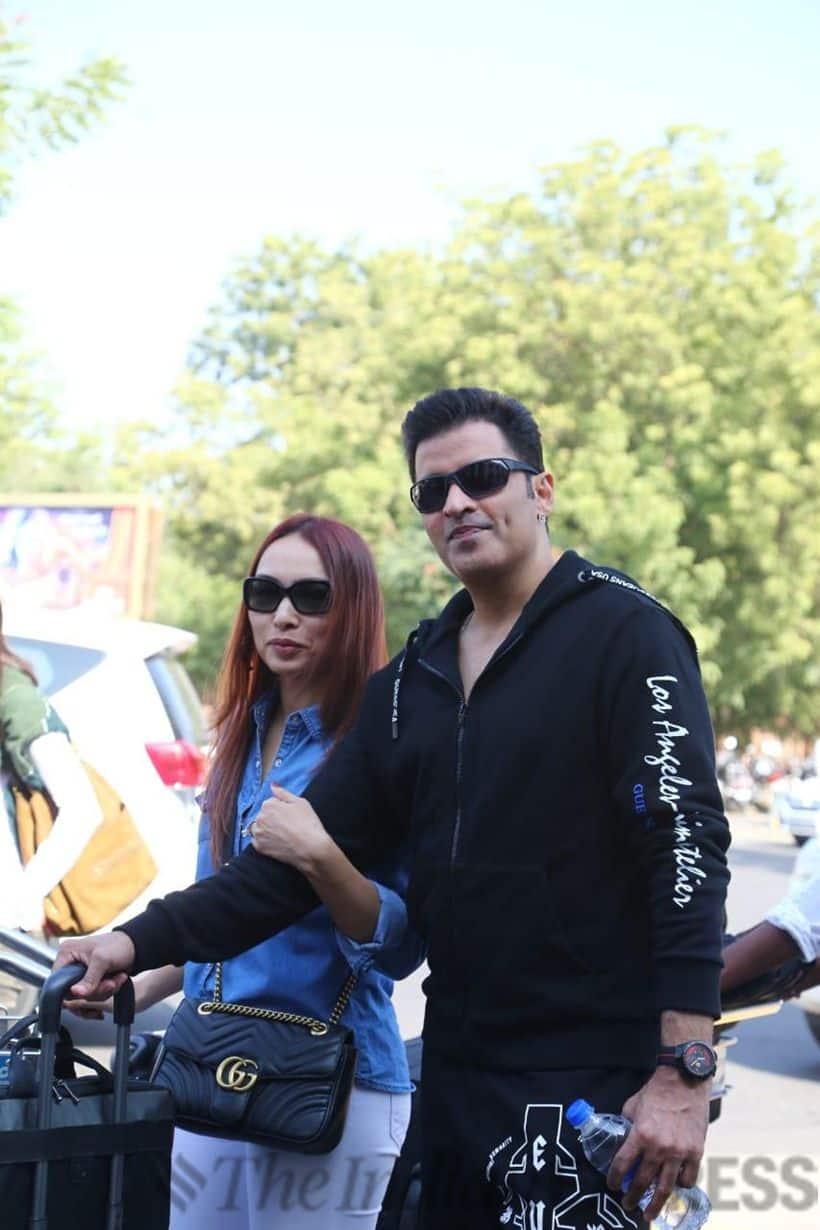 Ganesh Hegde with his wife Sunayna Shetty.