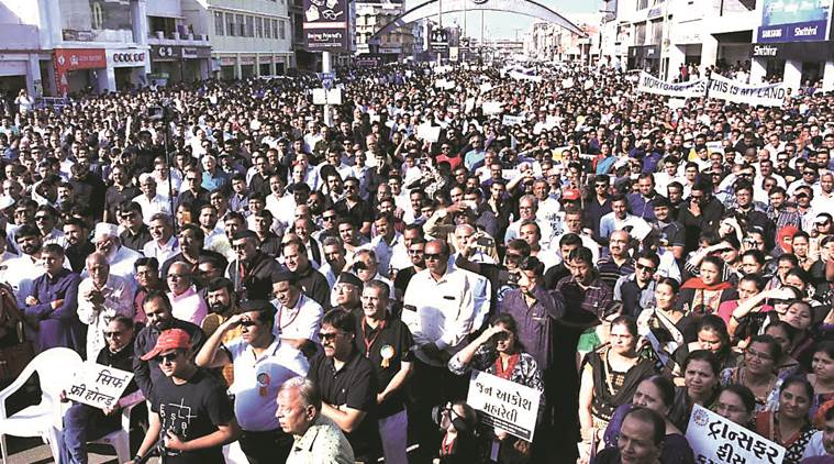 GCCI, Gandhidham Chamber of Commerce and Industry, traders march, Businessmen marched, Deendyal port trust, Gujarat News, Indian Express