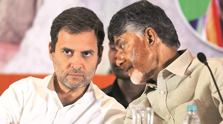 Opposition, opposition meeting today, Rahul Gandhi, Chandrababu Naidu, Congress, AAP, Arvind Kejriwal, TDP, M K Stalin, non BJP meet, Opposition meeting Delhi, Congress TDP AAP meeting, opposition meet live updates, India news, Indian Express