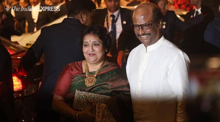 rajinikanth at isha ambani wedding