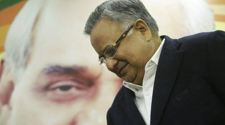Outgoing Chhattisgarh Chief Minister Raman Singh. (Express photo/Praveen Khanna)