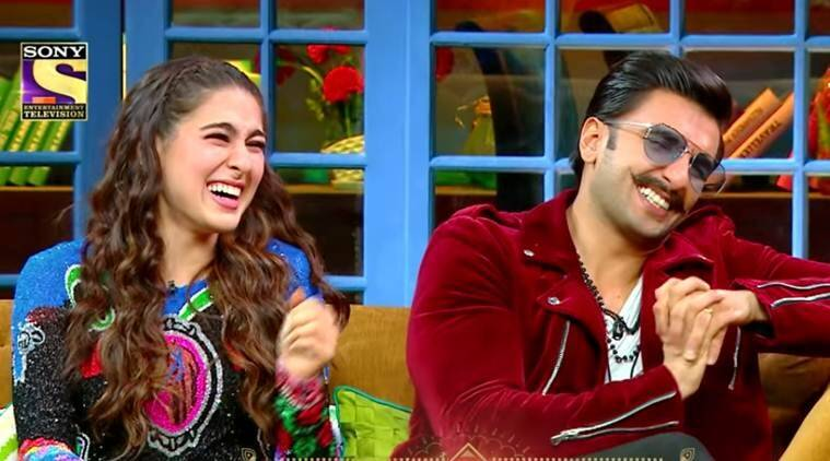 ranveer, sara on the kapil sharma show