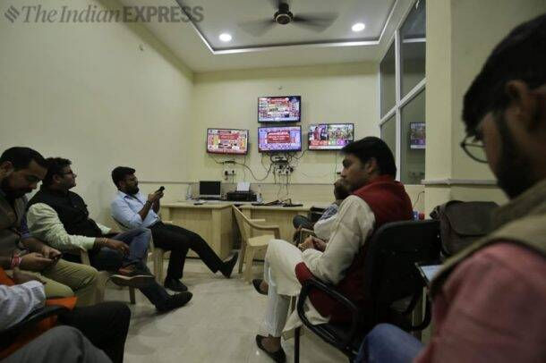 Celebrations, disappointments at party offices as results pour in