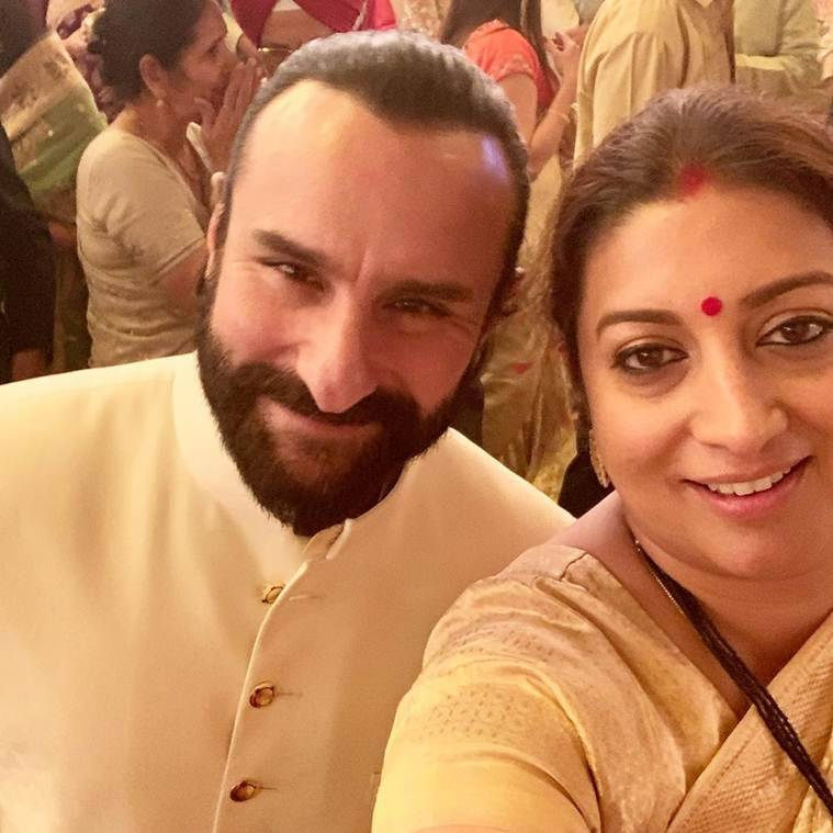 saif ali khan at isha ambani wedding