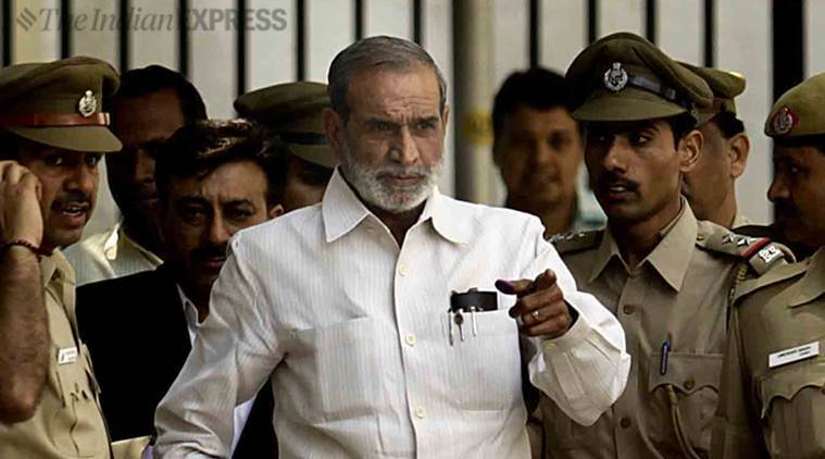 1984 anti sikh riots, 1984 riots, 1984 sikh riots, delhi high court, sajjan kumar, sajjan kumar surrenders, sajjan kumar life imprisonment, Indian express