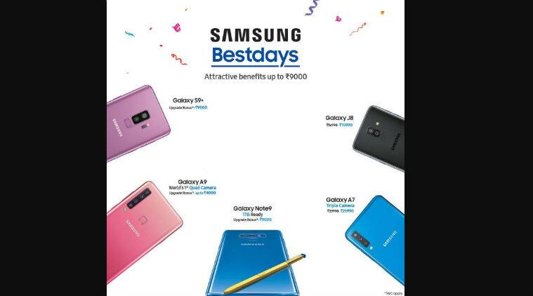 Samsung Bestday offer: Galaxy Note 9, S9+ with Rs 9,000 upgrade bonus, discounts on Galaxy A7