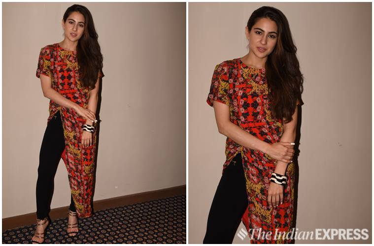 Sara Ali Khan, Sara Ali Khan fashion, Kedarnath, Simmba, Sara Ali Khan ethnic wear, sara ali khan updates, sara ali khan latest pics, sara ali khan latest news, Sara Ali Khan kedarnath, sara ali khan simmba, Sara Ali Khan latest photos, celeb fashion, bollywood fashion, indian express, indian express news