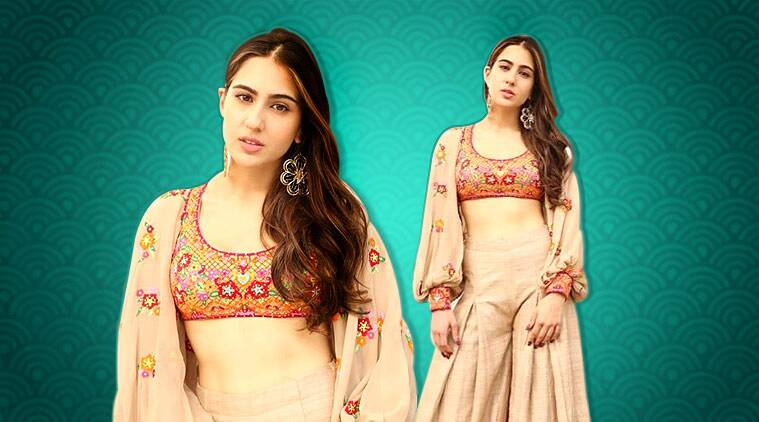 Sara Ali Khan, Sara Ali Khan fashion, Sara Ali Khan ethnic wear, sara ali khan updates, sara ali khan latest pics, sara ali khan latest news, Sara Ali Khan movie, Sara Ali Khan kedarnath, Sara Ali Khan abu jani sandeep khosla, Sara Ali Khan pictures, celeb fashion, bollywood fashion, indian express, indian express news