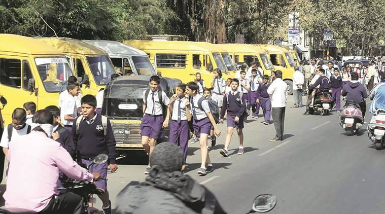 noida school buses, noida police, operation clean, operation clean noida, Gautam Buddh Nagar police, school buses safety measures, traffic rules, noida traffic, school buses fined, noida news, up police, up news, india news, indian express