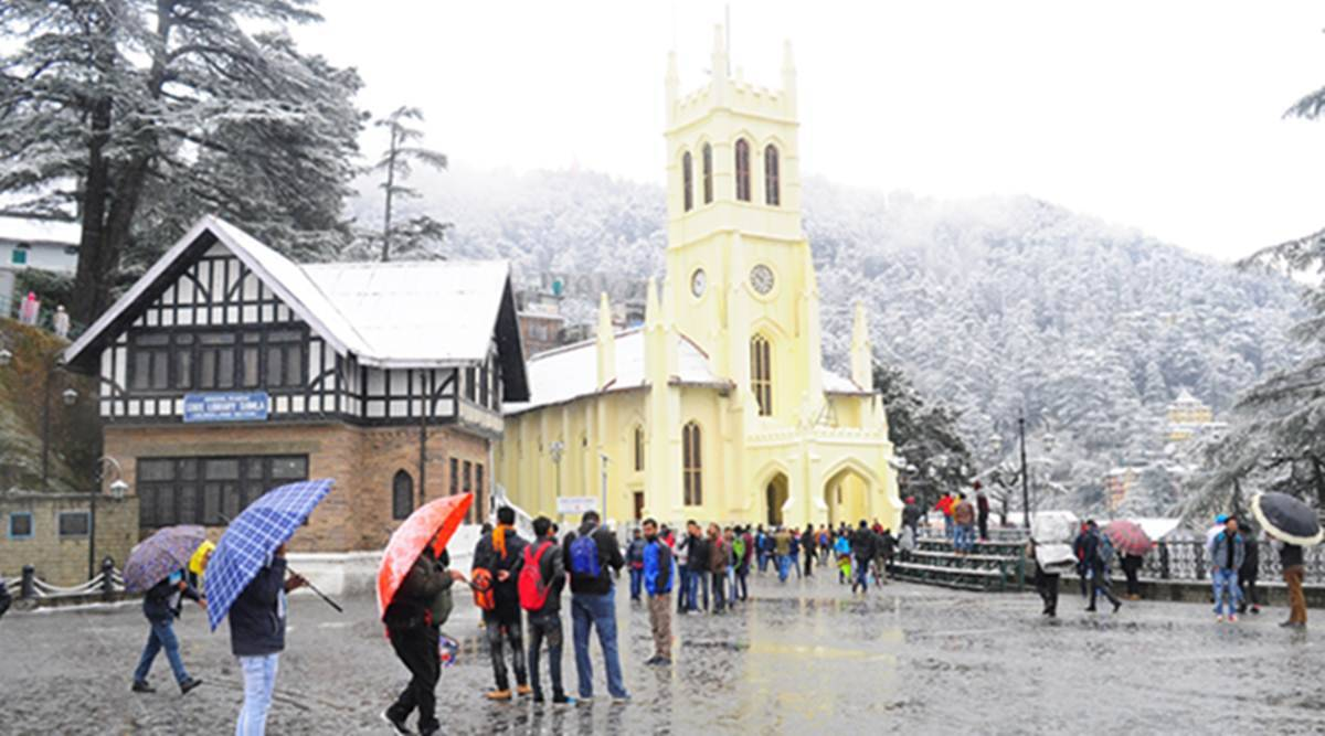 Snow fall in Shimla disrupt life, 75 roads blocked | Weather News,The  Indian Express